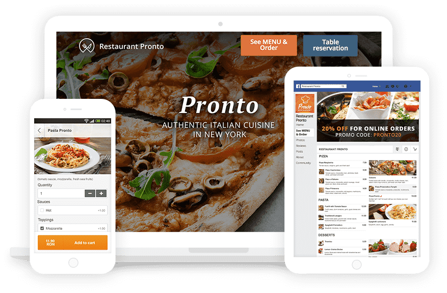 FoodNinja | Commission free Online Ordering and Table